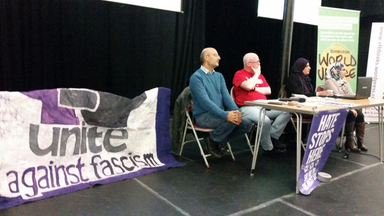anti-fascism, racism, immigration, debate, politics, arms, islamophobia, community, things to do edinburgh